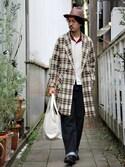 河島 克行さんの「WALK IN CLOSET ORIGINAL ECO TOTE BAG (MEDIUM)(WALK IN CLOSET|ウォークインクローゼット)」を使ったコーディネート