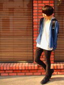 「Dr. Martens Lester 3 Eye Gibson Boot(Dr. Martens)」 using this くれ looks