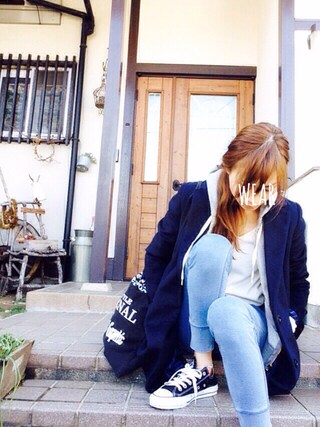 Sato*さんの「【Discoat】トンプキン織り裏毛パーカー(Discoat|ディスコート)」を使ったコーディネート