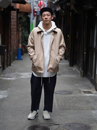 Revelations/|Hikimaさんの「【meanswhile】 Ventile B.B Cap(meanswhile|ミーンズワイル)」を使ったコーディネート