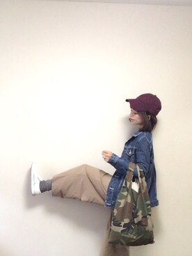 「【予約】【別注】 <NEW ERA>9TWENTY コットンキャップ(NEW ERA)」 using this 🅨Ⓤ🅒🅞 looks