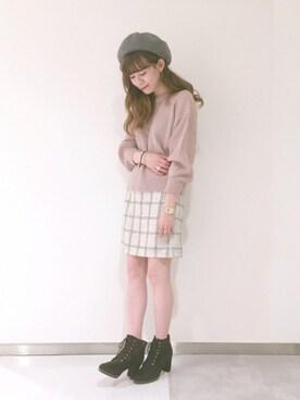 archives staff|akaneさんの「模様編み+片アゼプルオーバー(archives)」を使ったコーディネート