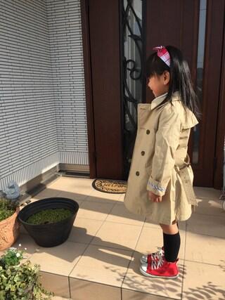 R♡M♡Sさんの「light weight spring トレンチコート(Sunny Landscape|アプレレクール)」を使ったコーディネート