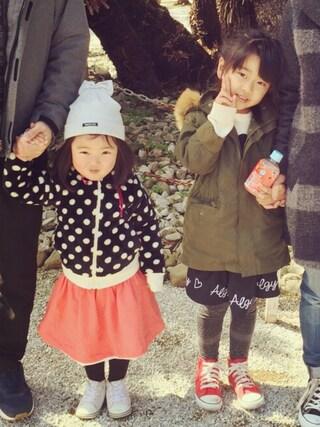 R♡M♡Sさんの「CONVERSE コンバース CHILD_ALL_STAR_RZ_HI 32513692(15-21) RED(CONVERSE コンバース)」を使ったコーディネート