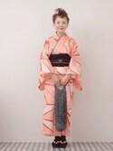 よちさんの「【京都丸紅×CIAOPANIC TYPY】麻の葉浴衣帯SET(CIAOPANIC TYPY|チャオパニックティピー)」を使ったコーディネート