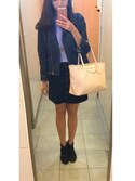 「FOREVER 21 Buttoned Suede Skirt(Forever 21)」 using this YUYURY looks