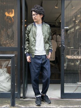 Audience atelier shop [ 実店舗&Web Store ] Nishinaさんの「コーマ天竺 レイヤードC/N L/S Cutsew(Audience)」を使ったコーディネート
