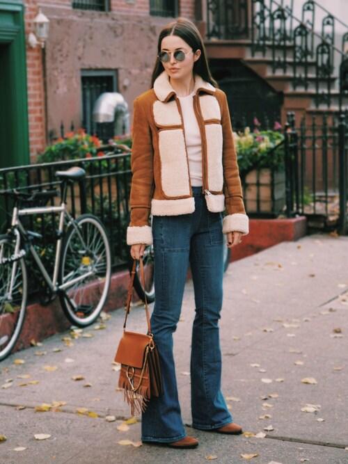 Yulia F. Kirpalani is wearing FRAME DENIM