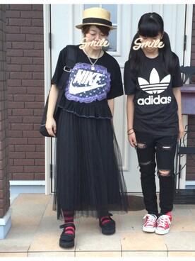 ゆきだるま☆さんの(adidas|アディダス)を使ったコーディネート