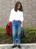 「STELLA MCCARTNEY Bella mini faux-suede cross-body bag(Stella McCartney)」 using this moderobe_EMI looks