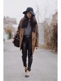 「Long Brim Fedora(Urban Outfitters)」 using this Phinjo Lhamo looks