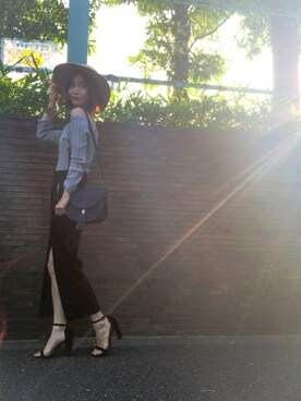 RENAさんの「《JILL JEAN》マコールデニムタイトスカート(JILLSTUART)」を使ったコーディネート