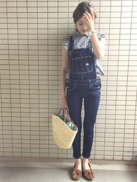 nikoniko☺︎さんの「ROSSO×Lee SKINNY OVERALL(URBAN RESEARCH ROSSO)」を使ったコーディネート