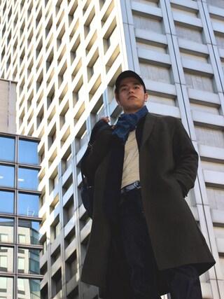 56chanさんの「MEN セルビッジレギュラーフィットジーンズ(UNIQLO|ユニクロ)」を使ったコーディネート