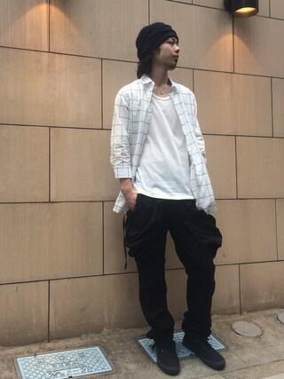 VIZ STORE-TOKYO VIZSTORE/STAFFさんの「Ice chocolate shirts(VIRGO ヴァルゴ)」を使ったコーディネート