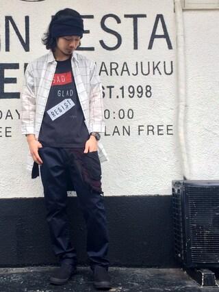 VIZ STORE-TOKYO VIZSTORE/STAFFさんの「Military tube(VIRGO ヴァルゴ)」を使ったコーディネート