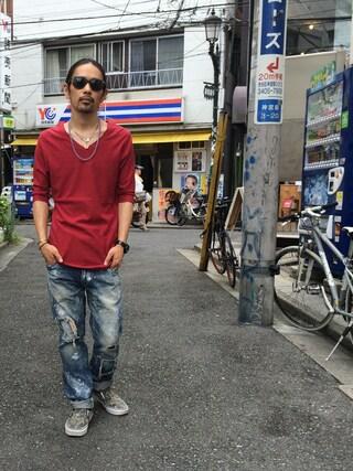 VIZ STORE-TOKYO|VIZSTORE/STAFFさんの「Basquiat L-SP(女神織DENIMES|メガミオリデニムズ)」を使ったコーディネート