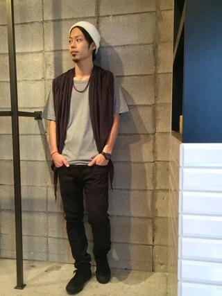 VIZ STORE-TOKYO|VIZSTORE/STAFFさんの「Developmentee Vネック(VIRGO|ヴァルゴ)」を使ったコーディネート