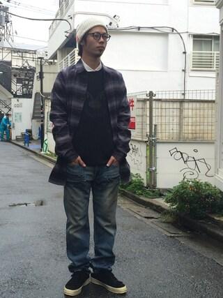 VIZ STORE-TOKYO|VIZSTORE/STAFFさんの「LONG STY CHECK SHIRTS(VIRGO|ヴァルゴ)」を使ったコーディネート
