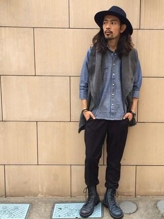 VIZ STORE-TOKYO|VIZSTORE/STAFFさんの「LASER DAMAGE SHIRTS(VIRGO|ヴァルゴ)」を使ったコーディネート