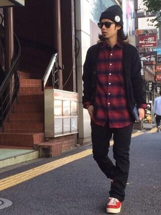 VIZ STORE-TOKYO|VIZSTORE/STAFFさんの「LOOSE MOHAIR CARDIGAN(VIRGO|ヴァルゴ)」を使ったコーディネート