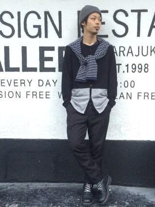 VIZ STORE-TOKYO|VIZSTORE/STAFFさんの「Egg break cardigan(VIRGO|ヴァルゴ)」を使ったコーディネート