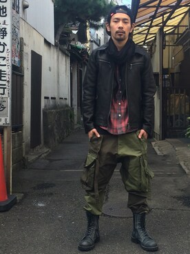 VIZ STORE-TOKYO   VIZSTORE/STAFFさんのライダースジャケット「VIRGO TYPE V-2 LEATHER JKT」を使ったコーディネート