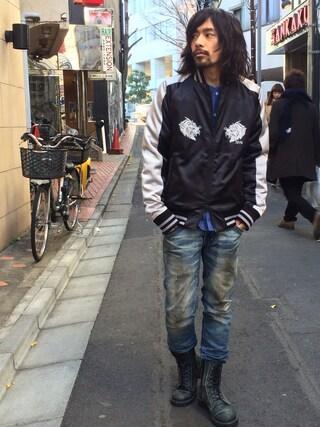 VIZ STORE-TOKYO|VIZSTORE/STAFFさんの「VG Premium Souvenir jkt(VIRGO|ヴァルゴ)」を使ったコーディネート