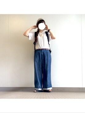 zzzさんの「コットンガーゼスタンドチュニック【niko and...】(niko and...)」を使ったコーディネート