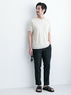 WEB���ƕ��bTani�����T�V���c/�J�b�g�\�[�uDOORS Linen Knit T-SHIRTS�iURBAN RESEARCH DOORS MENS�b�A�[�o�����T�[�` �h�A�[�Y �����Y�j�v���g�����R�[�f�B�l�[�g
