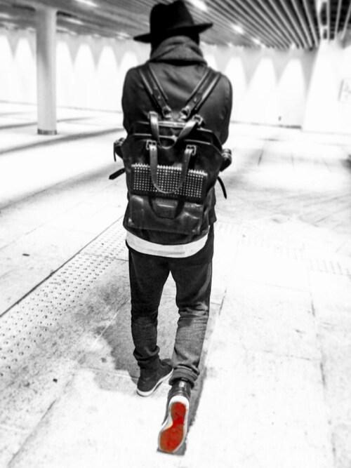 Ryo1|Christian Louboutinのバックパック/リュックを使ったコーディネート , WEAR