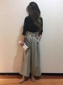 ishida_meiさんの「ツイードワイドパンツ(UNRELISH|アンレリッシュ)」を使ったコーディネート