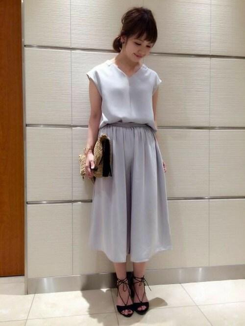 yoshiさんの「PVシャツ&ガウチョセットアップ 726195(apart by lowrys)」を使ったコーディネート