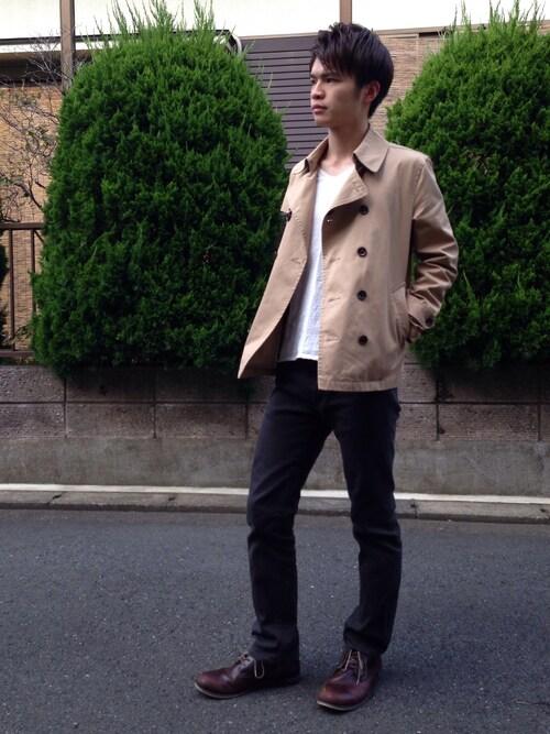 Sato Ryoさんの「【HARE】ショートトレンチジャケット(HARE)」を使ったコーディネート