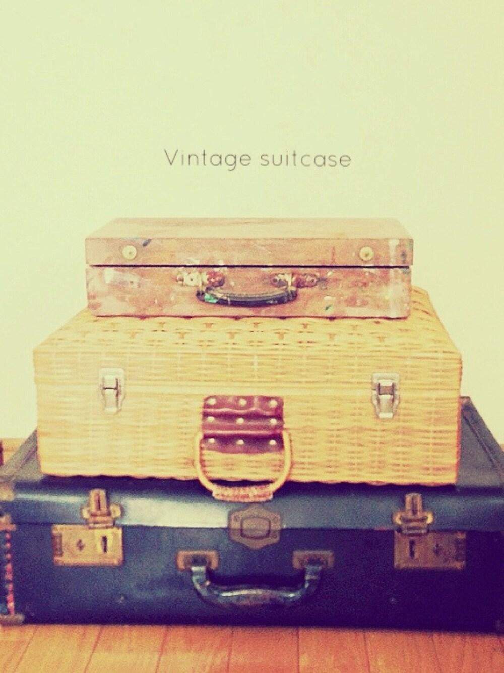 ヴィンテージ風×スーツケース