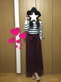 「FOREVER 21 Classic Striped Sweater(Forever 21)」 using this ぴーもん looks