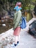 「Graphite Kanken Classic Backpack(Fjallraven Kanken)」 using this hachi looks