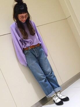靴下屋あべのキューズモール a.nさんの「【靴下屋】◆FUDGE12月号掲載◆リブベタ ソックス(靴下屋)」を使ったコーディネート