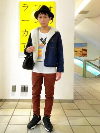 こづ堂さんの「中折れハット(FREE'S MART|フリーズマート)」を使ったコーディネート