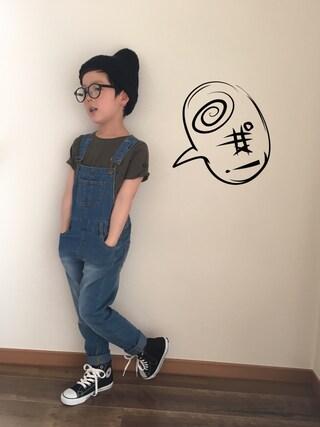 chobeanさんの「半袖無地Tシャツ(COMECHATTO&CLOSET|カムチャットアンドクロゼット)」を使ったコーディネート
