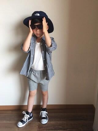 chobeanさんの「THE NORTH FACE / 16S Kids Hat (50~56cm)(こども ビームス|コドモビームス)」を使ったコーディネート