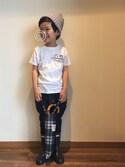 chobeanさんの「折りたたみ傘 / バンブー(Traditional Weatherwear|トラディショナルウェザーウェア)」を使ったコーディネート