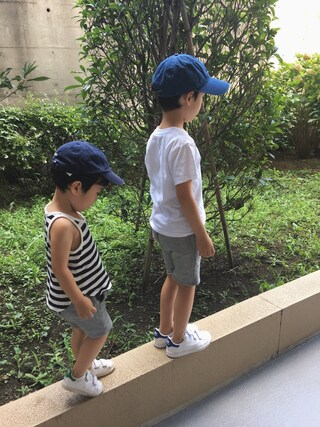 chobeanさんの「【KIDS】SNOOPYコラボTシャツ(SHARE PARK|シェアパーク)」を使ったコーディネート