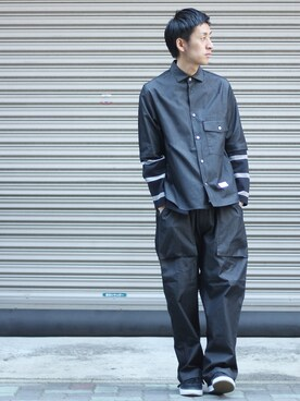 FURTHER NAGOYA|YUMAさんの「Name. SILKETE SMOOTH BORDER CUT JACKET(Name.|ネーム)」を使ったコーディネート
