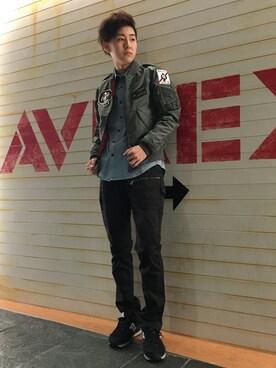AVIREX  福岡|SONJAE(そんじぇ)さんの(AVIREX|アヴィレックス)を使ったコーディネート