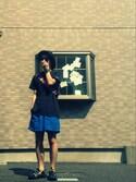zuzuzuさんの「【HOLDTUBE/ホールドチューブ】WIDEポーチ/531456(RAGEBLUE|レイジブルー)」を使ったコーディネート