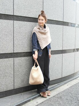 JOURNAL STANDARD 本社|murasugiさんの「《予約》【TEMBEA/テンベア】ボアバゲットトート ◆(TEMBEA|テンベア)」を使ったコーディネート