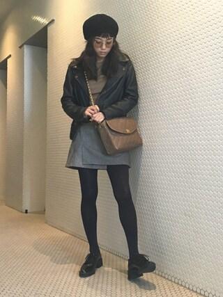 宮城舞さんの「WRAP SLIT ミニスカート(EMODA|エモダ)」を使ったコーディネート