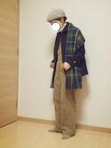 su-su-さんの「<15秋冬>【ORCIVAL(オーシバル)】メルトン シングルコート(ORCIVAL オーシバル)」を使ったコーディネート
