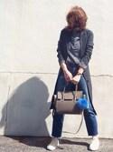 AZUさんの「【PLAIN CLOTHING】ファーポンポンチャーム(PLAIN CLOTHING|プレーンクロージング)」を使ったコーディネート